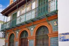 Triana dzielnicy fasady w Seville Andalusia Hiszpania Obrazy Royalty Free