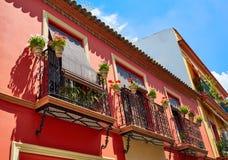 Triana dzielnicy fasady w Seville Andalusia Hiszpania Obrazy Stock
