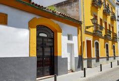 Triana dzielnicy fasady w Seville Andalusia Hiszpania Zdjęcie Royalty Free