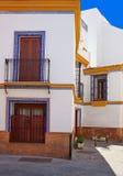 Triana dzielnicy fasady w Seville Andalusia Hiszpania Zdjęcie Stock