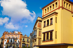 Triana dzielnicy Seville fasady Andalusia Hiszpania Fotografia Royalty Free