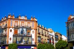 Triana dzielnicy Seville fasady Andalusia Hiszpania Zdjęcie Stock