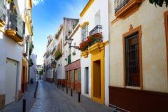 Triana dzielnicy Seville fasady Andalusia Hiszpania Obrazy Stock