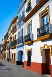 Triana dzielnicy Seville fasady Andalusia Hiszpania Obraz Stock