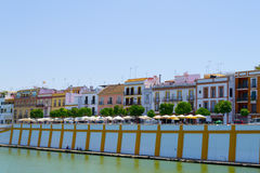 Triana from the Guadalquivir. Picture of the neighborhood of Seville Triana stock photos