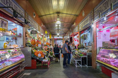 Triana indoor food market in Seville. Spain royalty free stock images