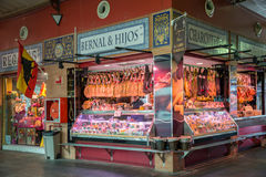 Triana indoor food market in Seville. Spain royalty free stock photo