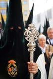 Triana nazarene, αδελφοσύνη της ελπίδας, ιερή εβδομάδα στη Σεβίλη, Ανδαλουσία, Ισπανία στοκ φωτογραφίες