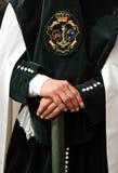 Triana nazarene, αδελφοσύνη της ελπίδας, ιερή εβδομάδα στη Σεβίλη, Ανδαλουσία, Ισπανία στοκ φωτογραφία με δικαίωμα ελεύθερης χρήσης