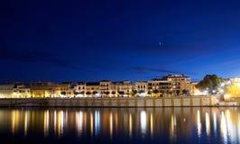 Triana område längs den Guadalquivir floden i Seville Fotografering för Bildbyråer