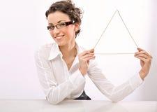 triangel Fotografering för Bildbyråer