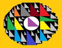 Triangel Art Abstration Arkivfoton