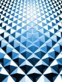 triangel för blå illustration för bakgrund 3d blank Royaltyfria Bilder