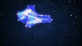Triangel forme la ligne fond d'orbite d'animation illustration libre de droits