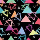 Triangel hur kan göra den sömlösa modellen royaltyfri illustrationer