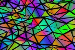 Triangelbakgrund som är färgrik Arkivfoton