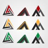 Triangellogo, företagslogo stock illustrationer