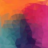 Triangelmodell av geometriska former färgrikt Royaltyfri Fotografi