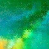 Triangelmodell av geometriska former färgrikt Arkivfoton