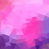 Triangelmodell av geometriska former färgrikt Fotografering för Bildbyråer
