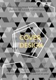 Triangelräkningsdesign Mall för affären Broshure, räkningsbok, reklamblad, kort vektor illustrationer