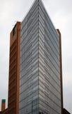 Triangelskyskrapa på Alexander Platz royaltyfria bilder
