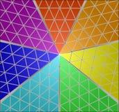 Triangelspektrum Arkivfoton