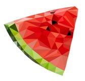 Triangelvattenmelonvektor Royaltyfria Bilder