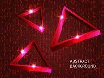 Triangelvolymgnistrande p? bakgrund arkivfoto