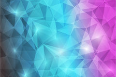 Trianggle abstrack background-09. Trianggle abstrack background shine blue purple black Stock Image