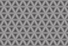 Triangl seamless pattern. Greyscale. Industrial texture, vector. Stock Photo