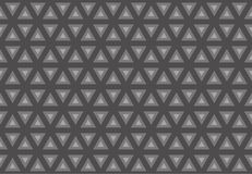 Triangl seamless pattern. Greyscale. Industrial texture, vector. Royalty Free Stock Images