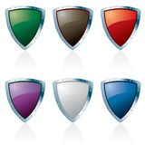 Triangl silver shields Stock Photo