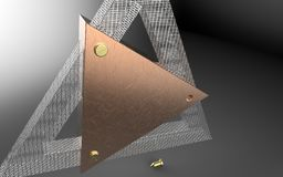 trianglar Arkivbild