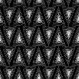 Trianglar från vita linjer på en svart bakgrund Royaltyfria Foton