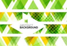 Trianglar geometrisk rengöringabstrakt begreppbakgrund Arkivbild
