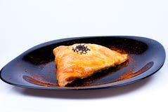 Trianglar med kött Arkivfoto