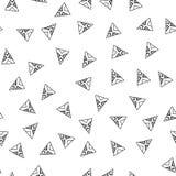 trianglar seamless white för svart modell Geometrisk abstrakt bakgrund för räkningar, textil Klotterformer vektor illustrationer