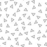 trianglar seamless white för svart modell Geometrisk abstrakt bakgrund för räkningar, textil Klotterformer stock illustrationer