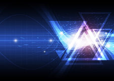 Triangle abstract background. Design illustration Royalty Free Stock Photos