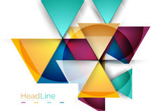 Triangle abstract background Stock Photography