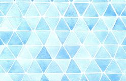Triangle abstract background. Watercolor hand made artwork. royalty free illustration