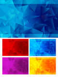 Triangle Abstract Backgrounds Five Colors Royalty Free Stock Image