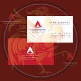 Triangle abstract business card logo. Symbol icon vector illustration