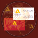 Triangle abstract business card logo. Symbol icon stock illustration