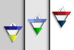 Triangle abstract choice Stock Images