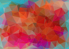 Triangle abstract flat colorful background Royalty Free Stock Photography