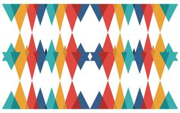 Triangle abstract geometric pattern Stock Images