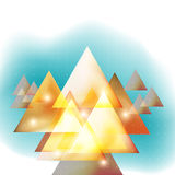 Triangle abstract group, symbol of direction, unity, together Stock Images