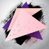 Triangle abstract grunge background Stock Photo